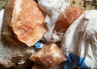 Himalayan salt chunks for salt room decor